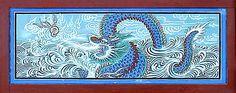 Korean Dragon on a wall panel
