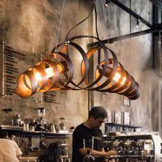 Bar rétro lampe de fer minimaliste Suspension style industriel moderne Lustres