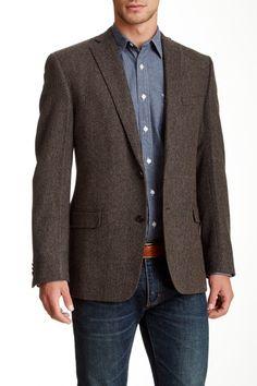 Elie Tahari Poitier Herringbone Wool Sportcoat