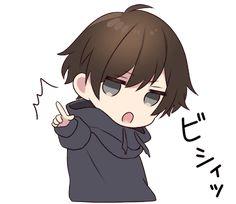 chibi cute boy LINE stickers Anime Neko, Kawaii Anime Girl, Manga Kawaii, Cute Anime Chibi, Art Anime, Anime Kunst, Kawaii Chibi, Cute Anime Boy, Manga Anime