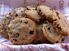Almond Butter Chocolate Chip cookies. Awesome! Used 1/3 c each coconut, rice, & arrowroot flours & replaced butter with Earth Balance. A bit dry, might try adding a ripe banana.