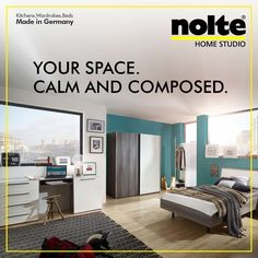 Bedroom Cabinets, Bedroom Wardrobe, Master Bedroom, High Gloss, Wardrobes,  Bedrooms, Master Suite, Bedroom Closets, Dorm Closet. Nolte India