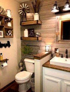 65 Farmhouse Master Bathroom Ideas and Remodel - Badezimmer - Bathroom Decor Amazing Bathrooms, Home Remodeling, Bathroom Remodeling, Remodel Bathroom, Bathroom Makeovers, Home Decor, Decor Room, Decor Ideas, Decorating Ideas