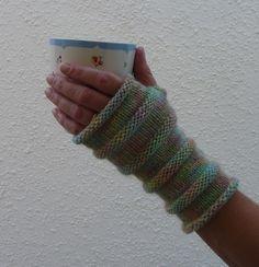 FINGERLESS mitts  (merino, alpaca, silk blend ) ...Ready to ship..... £14.50