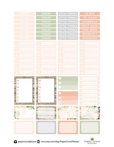 FOREVER and ALWAYS Weekly Kit/Printable Planner