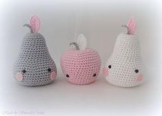 """✣ Birnen und Apfel Set """"Pastell"""" gehäkelt✣ von ✣ Smoozly Crochet ✣ auf DaWanda.com"""