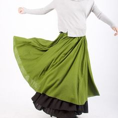 Linen skirt for womens MM34 by xiaolizi on Etsy, $39.99