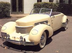 1936 Cord 810 Convertible.  Holy s/!-& this was an awesome car.