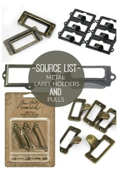 Source list for buying the BEST metal label holders and pulls! Drawer pulls via Little House of Four Do It Yourself Furniture, Do It Yourself Home, Thrifty Decor, Diy Home Decor, Buy Decor, Furniture Makeover, Diy Furniture, Locker Tags, Drawer Labels