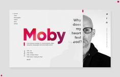 Promo site Moby by Amir Islamov Web Design Mobile, Graphisches Design, Web Ui Design, Page Design, Layout Design, Flat Design, Graphic Design, Website Design Inspiration, Webdesign Layouts