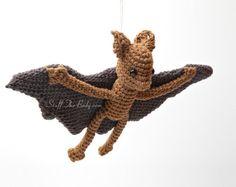 Bennet The Baby Bat Amigurumi Pattern, Crochet Halloween Pattern, home decor, plushie toy, birthday present, baby shower, nursery decor, eco