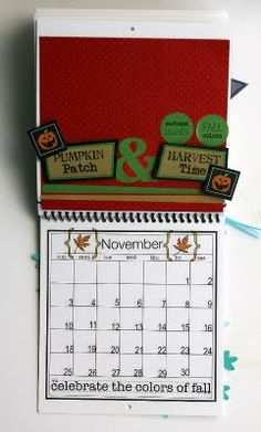 @Elizabeth Carney created this wonderful Calendar using SRM's 6 x 6 calendar, calendar months, calendar numbers and other assorted SRM Stickers.  November