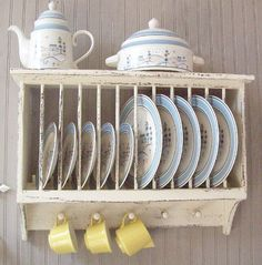 Country Cottage Farmhouse Primitive WOOD PLATE RACK by PioneerLoft $92.95 & vintage plate rack | Farmhouse Porch at Home | Pinterest | Plate ...