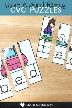 Here is a fun word work activity to practice sounding out letters. Word Work Activities, Spelling Activities, Reading Activities, Short E Words, Just Right Books, Teaching Calendar, Cvc Word Families, Sounding Out Words, Phonics Lessons