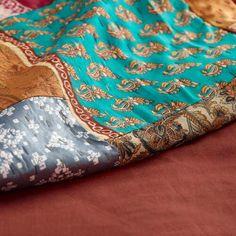 Kantha Sari Patchwork Throw | World Market