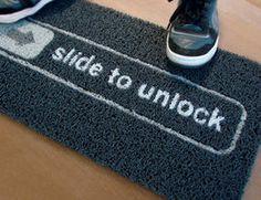 Ha ha!!  I want this door mat!!
