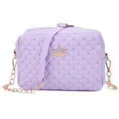 Guapabien 2017 Korean Women Handbag Female Crown Rivet Chain Shoulder Bag Ladies PU Leather Crossbody Messenger Small Phone Bags
