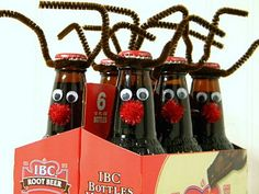 Easy Christmas Craft Ideas for Kids – Root Beer Reindeer, Cinnamon Candles, Tea Bag Wreath--- the tea bag wreath would make a wonderful gift for a tea drinker :)  VERY cool ideas!!!!!