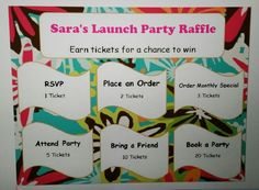 Launch Party Raffle