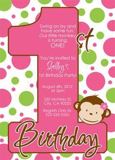 Mod monkey girl birthday party invitations in 2018 monkey party mod monkey girl birthday party invitations in 2018 monkey party pinterest girl monkey birthday mod monkey and monkey birthday filmwisefo