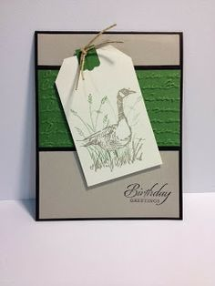 Wetlands Masculine Birthday Card Stampin' Up! Rubber Stamping HandmadeCards