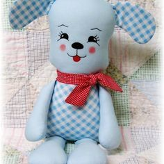 Puppy Dog Softie Sewing Pattern for Soft Toy Stuffed Animal - Puppy Kisses