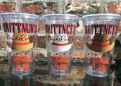 Cowboy Hat Bachelorette Party Tumbler 16 ounce  by VinylGifts, $10.00