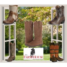 """Did somebody Say Boots? <3 """"Boots Galore"""" by farmhousetack on Polyvore"""