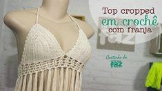DIY - Top Cropped em crochê com franja (Diane Gonçalves)