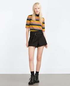 ZARA - WOMAN - SHORTS WITH BUCKLE