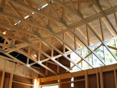 Wood roof trusses give you a level of unmatched design options. In fact, your wood roof truss can be custom-designed to match the individual architectural style of your structure. Shed Roof, House Roof, Roof Truss Design, Solar, Roof Installation, Fibreglass Roof, Modern Roofing, Roof Trusses, Cool Roof