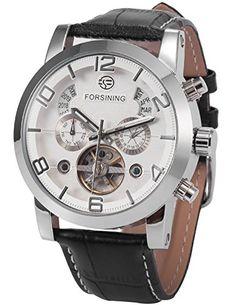 AMPM24 Herren Armbanduhr Automatikuhr Mechanische Armbanduhr Armband aus Kunstleder PMW372 - http://uhr.haus/ampm24-2/ampm24-herren-armbanduhr-automatikuhr-armband-2