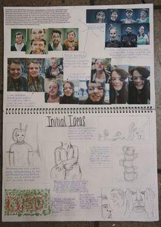 GCSE Sketchbook Page 2014 Sketchbook Layout, Gcse Art Sketchbook, Sketchbook Inspiration, Sketchbook Ideas, Photography Sketchbook, Artistic Photography, Roy Lichtenstein, Surface Art, Sketch Books