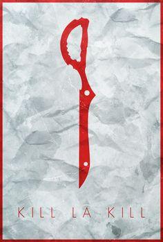 Fear is Freedom - Kill la Kill Minimalist Poster by Edwin Julian Moran II