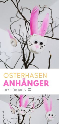 Basteln mit Kindern: Hase Anhänger Ostern aus Holz Astscheiben Wood Painting Art, Wood Art, Macrame Jewelry, Kindergarten, Disney Characters, Fictional Characters, Projects To Try, Illustration, Kids