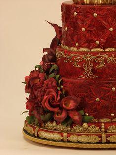 Burgandy Wedding Cake, from Christopher Garrens http://www.christophergarrens.com/burgundy_wedding_cake#