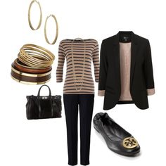 Like this outfit except the shoes. Gimme a pair of plain black flats or high heels & I'll rock this :)