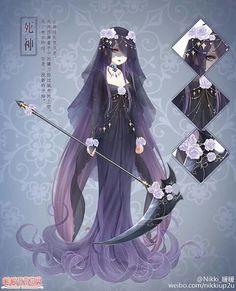 Purple Rose Grim Reaper Dress