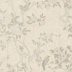 Ralph Lauren Marlowe Floral Mother Of Pearl * Wallpaper