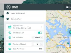 Here is a concept of a Booking Page for Water Taxi's, This form includes two destination points to select from the map and provide essential details with calculating real time cost. Hope you'll lik...