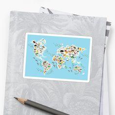 animal world map  by EkaterinaP
