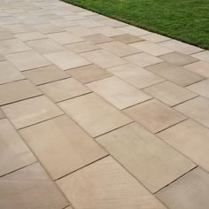 Natural Paving smooth sandstone with a sawn and honed finish for a fine, eye catching finish. Walnut has warm buff and dark cream shades. The surface and sides of this Paving are sawn for contemporary style garden designs. Sandstone Paving, Paving Slabs, Block Paving, Paving Stones, Stone Landscaping, Garden Paving, Sit Back And Relax, Contemporary Style, Natural Stones