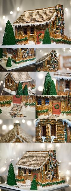 """Christmas Log Cabin"" by Kaitlin L. (Standout Execution). Cute little decoration! Maybe I'll have this someday. (::"