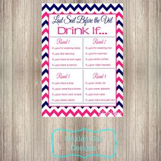 This Last Sail Before the Veil Bachelorette Party Drink If Printable is the perfect game for your upcoming bachelorette bash! This can be