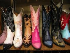 Brooke, this would be a cute picture. One of each of your bridesmaids boots lined up together?