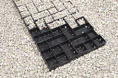 Permeable paving for driveways - this could work in the backyard for our drainage problem! Backyard Projects, Outdoor Projects, Garden Projects, Outdoor Ideas, Gravel Stones, Sand And Gravel, Permeable Driveway, Monolithic Dome Homes, Paving Ideas