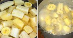 Banana Tea, Banana Drinks, Banana Dessert, Banana Before Bed, La Constipation, Pbs Food, Allergy Remedies, Cooking Spaghetti, Curry Dishes