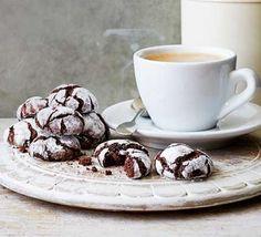 Chocolate fudge crinkle biscuits