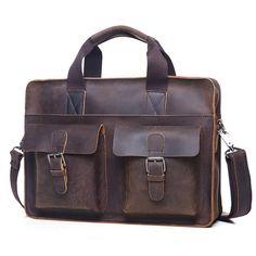 """Handmade Vintage Leather Briefcase / Leather Messenger Bag / 11"""" 13"""" MacBook 12"""" 13"""" Laptop Bag"""
