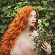 Photo about Beautiful pre-raphaelite girl with curly red hair with a flying tulle dress on the background of a fern. Image of makeup, medival, masquerade - 115769083 Beautiful Red Hair, Long Red Hair, Pre Raphaelite, Ginger Hair, About Hair, Girl Hairstyles, Redheads, Curly Hair Styles, Wigs
